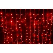Светодиодный занавес LED-PLS-5720-240V-2*6М-R/WH (красные светодиоды/белый провод) 2*6 м