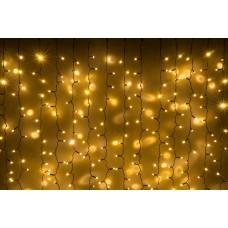 Светодиодный занавес LED-PLS-5720-240V-2*6М-WW/BL (белые теплые светодиоды/черный провод) 2*6 м