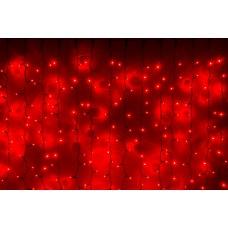Светодиодный занавес LED-PLS-5720-240V-2*6М-R/BL (красные светодиоды/черный провод) 2*6 м