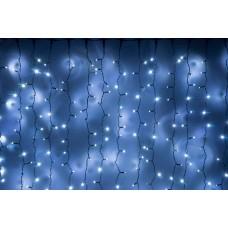 Светодиодный занавес LED-PLS-5720-240V-2*6М-W/BL (белые светодиоды/черный провод) 2*6 м