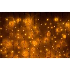 Светодиодный занавес LED-PLS-5720-240V-2*6М-Y/BL (желтые светодиоды/черный провод) 2*6 м