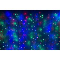 Светодиодный занавес LED-XP-1925-1,5М-230V (мульти светодиоды/черный провод) 2*1,5 м