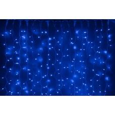 Светодиодный занавес LED-XP-1925-1,5M-230V (синие светодиоды/белый провод) 2*1,5 м