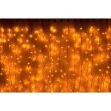Светодиодный занавес LED-XP-1925-1,5M-230V (желтые светодиоды/золотой провод) 2*1,5 м